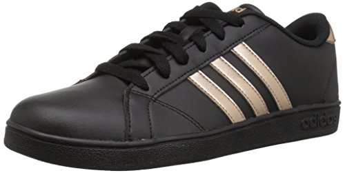 adidas Originals Unisex-Kids Baseline Sneaker, Black/Copper Metallic/Black, 5.5 M US Big Kid