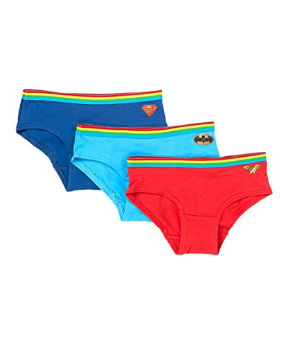 DC Super Hero Girls Wonder Woman, Batgirl and Supergirl Underwear 3 pack