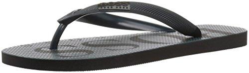 Hugo Boss BOSS Green by Men's Wave Thong Rubber Sandal Flip-Flop, Dark Green, 10/11 M US