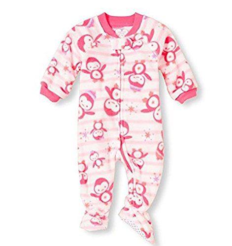 Toddler Girl's Size 3T Penguin Fleece Blanket Footed Pajama Sleeper