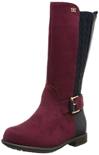 Tommy Hilfiger Kids Andrea Tall Chelsea Riding Boot (Toddler/Little Kid/Big Kid),Peacoat/Red,8 M US Toddler