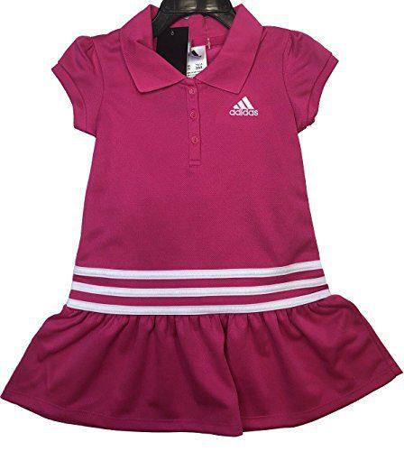 adidas Girl's 2 Piece Polo Dress Set (Pink, 5)