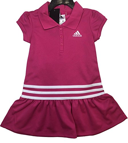 adidas Girl's 2 Piece Polo Dress Set (Pink, 5)