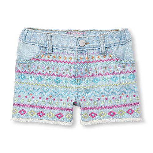 The Children's Place Baby Girls Denim Shorts, LT Linda Wash, 3T