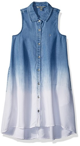 Calvin Klein Little Girls' Dress, Indigo Fade, 6