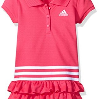 adidas Toddler Girls' Active Polo Dress, Medium Pink, 2T
