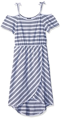 Tommy Hilfiger Big Girls' Fashion Maxi Dress, White Stripes, Medium