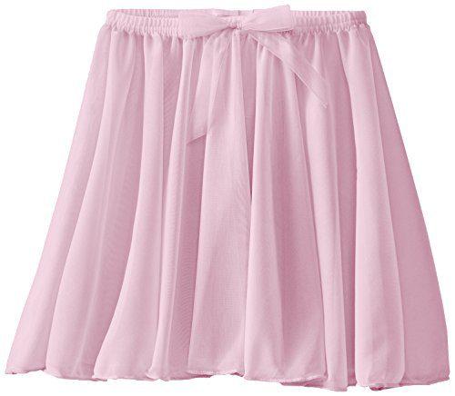 Capezio Little Girls' Children's Collection Circular Pull-On Skirt, Pink, Toddler