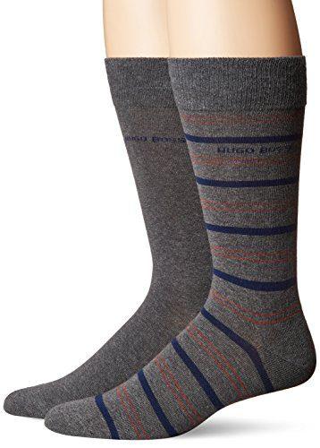 BOSS HUGO BOSS Men's 2p Rs Stripe Us Cc, Medium Gray, 7-13