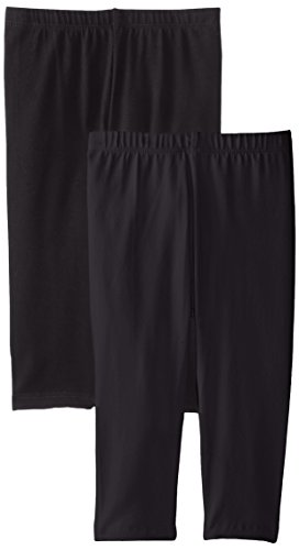 The Children's Place Big Girls' Cropped Legging (Pack of 2), Black, Large (10/12)