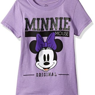 Disney Big Girls' Minnie Mouse Cap Sleeve T-Shirt, Lavender, L-12/14