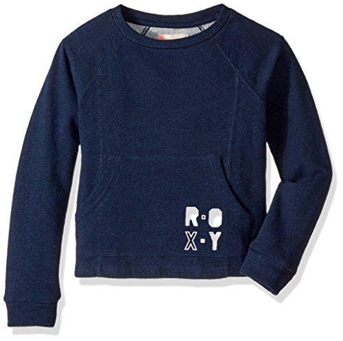 Roxy Big Girls' Neptune Tales Fleece Top, Dress Blues Heather, 14