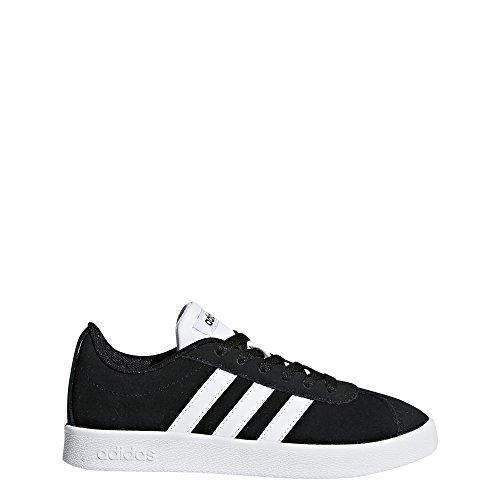 adidas Kids' VL Court 2.0, Core Black/White/Core Black, 3.5 M US Little Kid