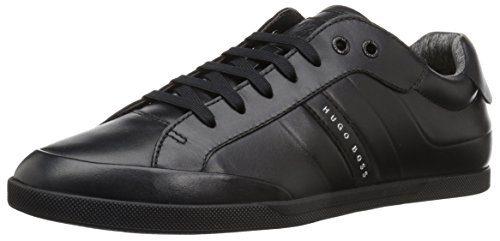 Hugo Boss BOSS Green by Men's Shuttle Tenn Leather Sneaker, Black, 9 M US