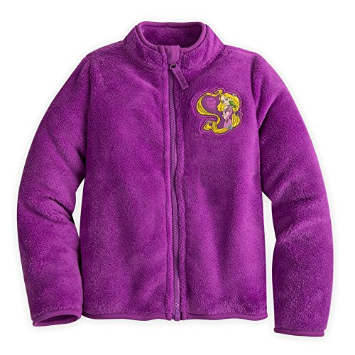 Disney Rapunzel Fleece Jacket for Girls Size 5/6 Purple