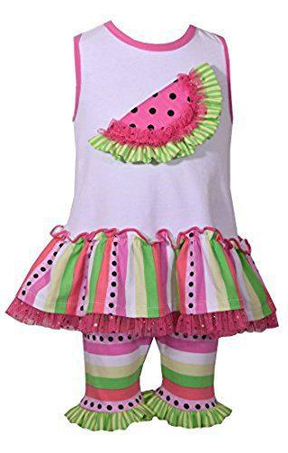 Bonnie Jean Girl's Watermelon Legging Set (18 months)