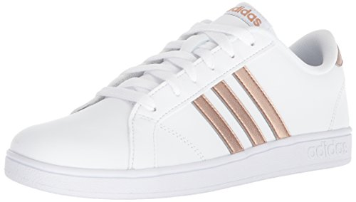 adidas Originals Unisex-Kids Baseline Sneaker, White/Copper Metallic/Black, 1.5 M US Little Kid