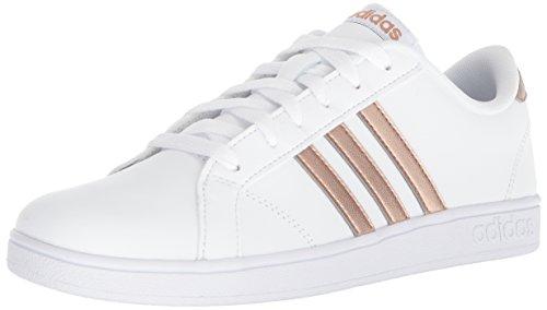 adidas Originals Unisex-Kids Baseline Sneaker, White/Copper Metallic/Black, 1.5 M US Little Kid