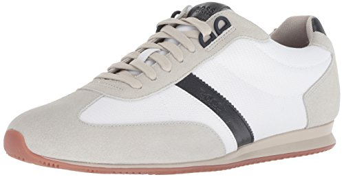 Hugo Boss BOSS Orange by Men's Orlando Low Suede Sneaker, Open White, 43 M EU (10 US)