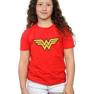 DC Comics Girls Wonder Woman Logo T-Shirt 7-8 Years Red