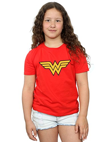 DC Comics Girls Wonder Woman Logo T-Shirt 7-8 Years Red