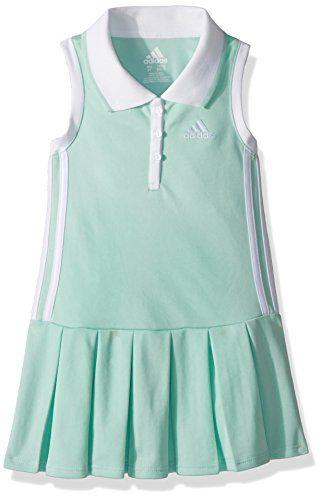 adidas Little Girls' Yrc Active Polo Dress, Ice Green, 6X