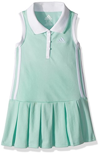 adidas Little Girls' Yrc Active Polo Dress, Ice Green, 6X