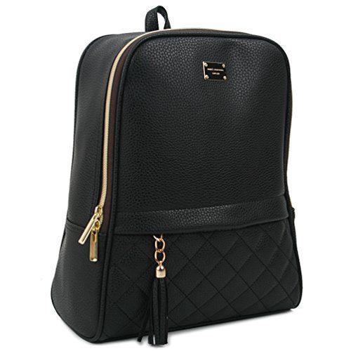 Copi Women's Modern Design Casual Fashion small Backpacks Black