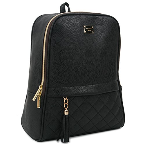 Copi Women's Modern Design Casual Fashion small Backpacks Black