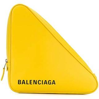 Balenciaga Women's Yellow Leather Clutch