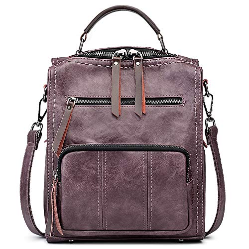 SiMYEER Women's Leather Fashion Backpack Purse Rucksack