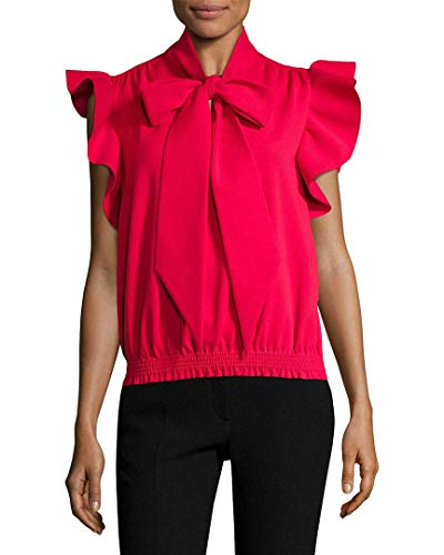Balenciaga Womens Ruffle Shell Top, 36F
