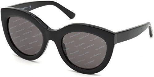 Balenciaga Women's Black Logomania/Smoke Logomania Lens One Size