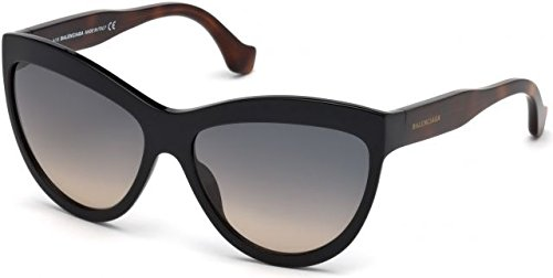 Balenciaga Women's Black/Havana/Smoke Gradient Sand Sunglasses