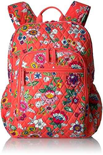 Vera Bradley Women's Campus Tech Backpack, Coral Floral