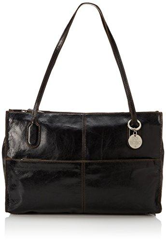 Hobo Friar Shoulder Bag Black Vintage Leather One Size