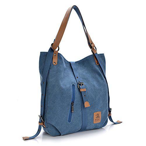 Women Shoulder Bag, Fashion Backpack, Multifunctional Canvas Handbag
