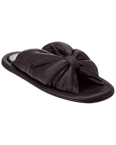 Balenciaga Satin Slide Sandal, 36.5, Black