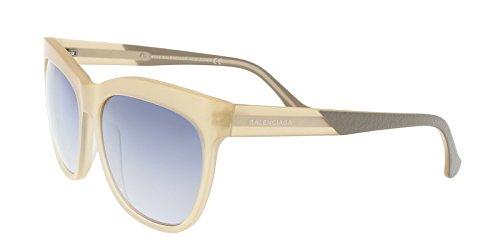 Balenciaga Cream Square Sunglasses for Womens
