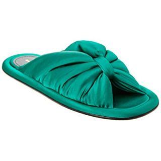 Balenciaga Satin Slide Sandal, 36, Green