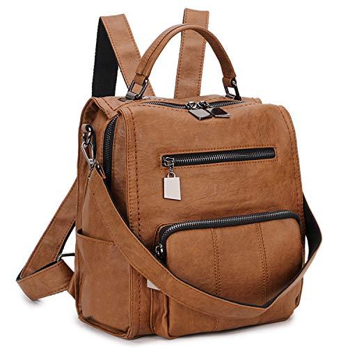 RAVUO Women Backpack Purse, PU Leather Mini Backpack