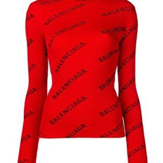 Balenciaga Women's Red Polyamide Sweater