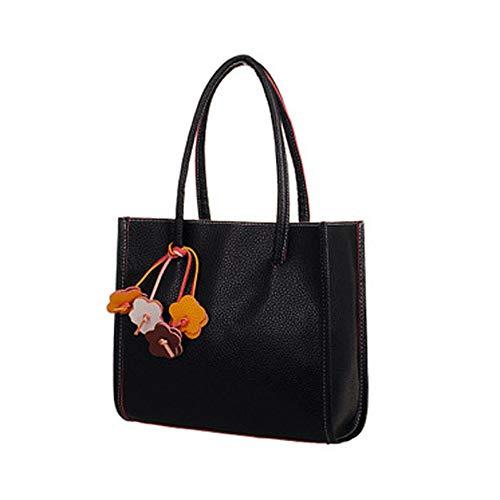 Fashion girls handbags leather shoulder bag candy color flowers