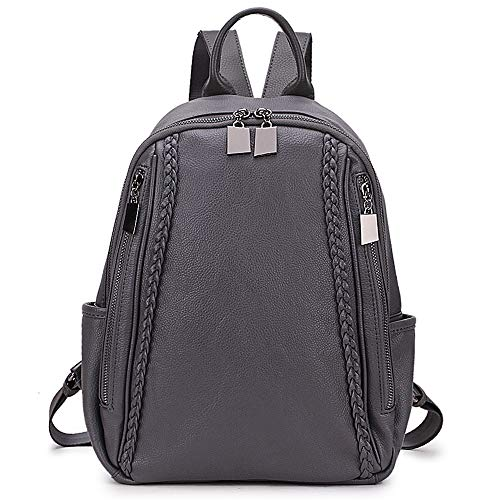 RAVUO Women Backpack Purse, Soft Grain PU Leather Backpack