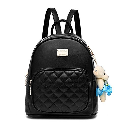 Women Fashion Cute Leather Laides Shopping Bag Casual Backpack