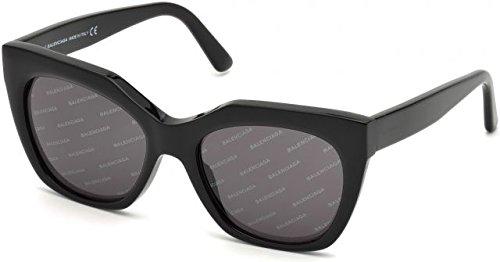 Balenciaga Women's Black/Smoke Logomania Lens One Size