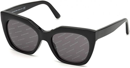 Balenciaga Women's Black/Smoke Logomania Lens One Size