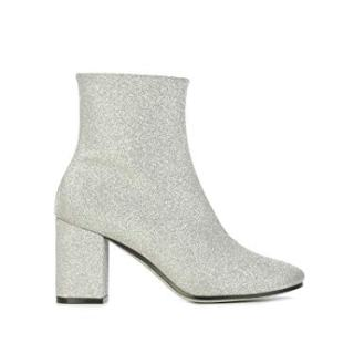 Balenciaga Women's Silver Leather Ankle Boots