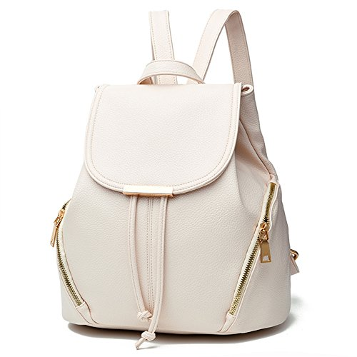 Z-joyee Casual Purse Fashion School Leather Backpack Shoulder