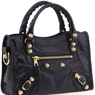 Balenciaga Giant 12 Gold Mini City Bag, Black